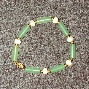 Jade and Pearl bracelet